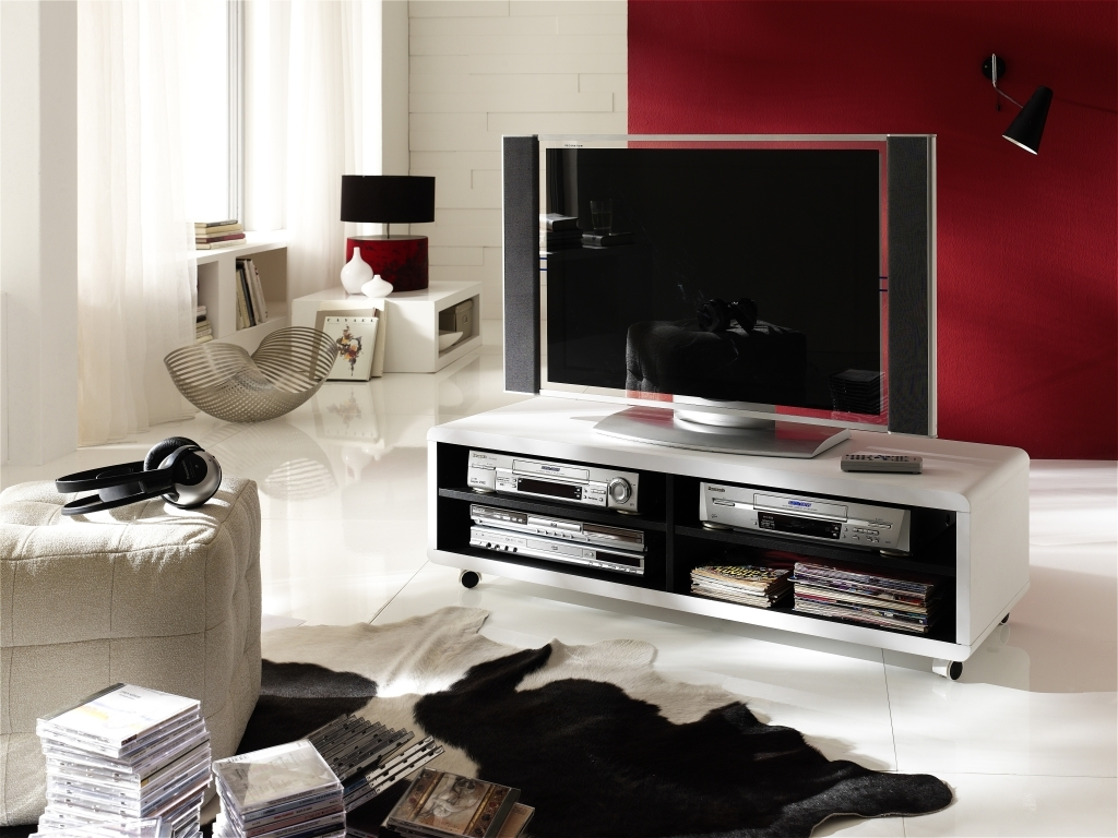 tv lowboard jeff xl wei schwarz sb m bel discount. Black Bedroom Furniture Sets. Home Design Ideas