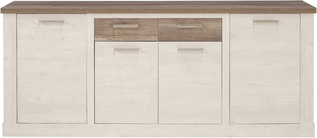 sideboard duro pinia weiss eiche antik sb m bel discount. Black Bedroom Furniture Sets. Home Design Ideas