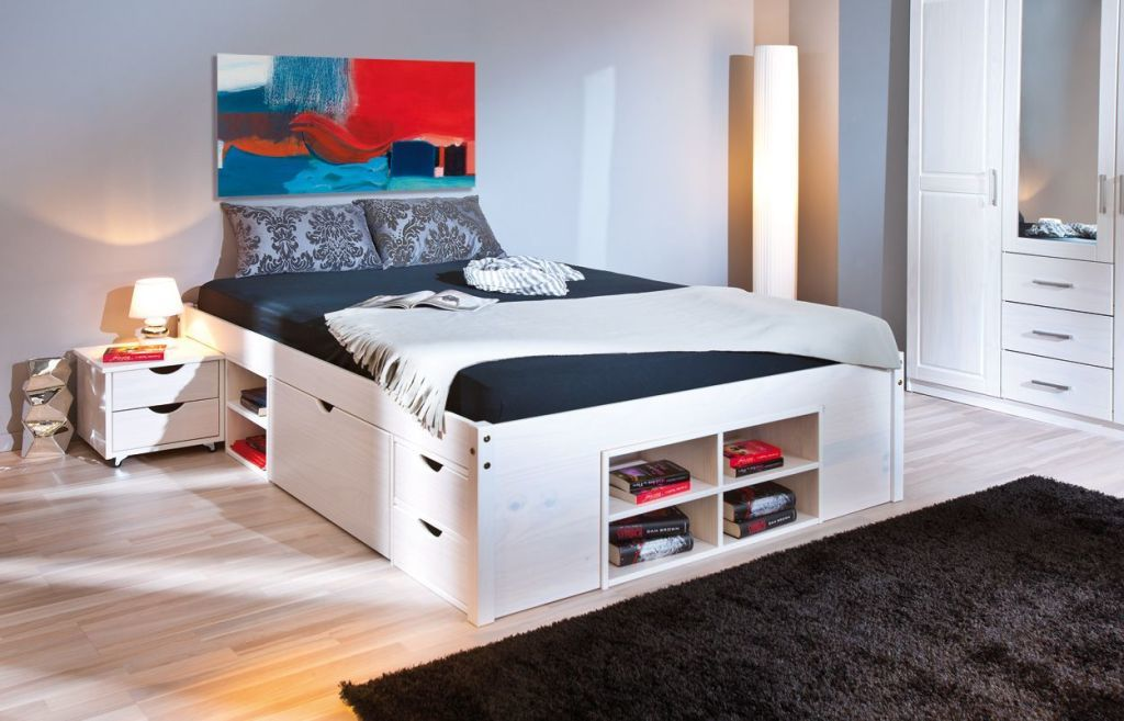 funktionsbett till 140x200cm wei sb m bel discount. Black Bedroom Furniture Sets. Home Design Ideas