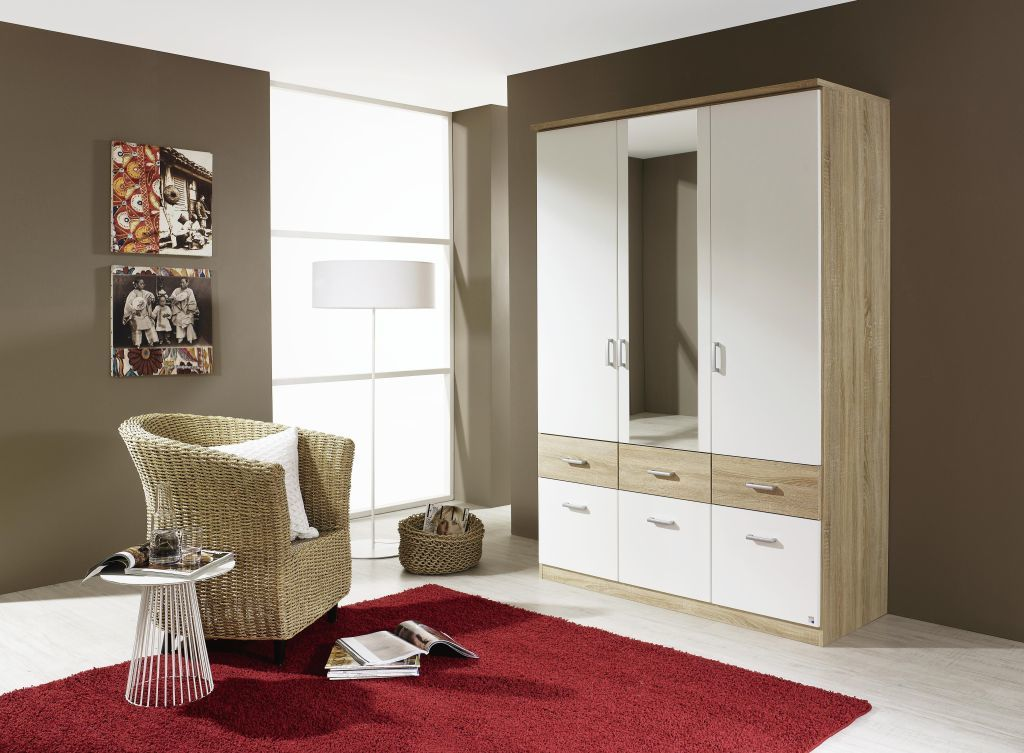 kombi dreht renschrank bremen alpinwei eiche sonoma. Black Bedroom Furniture Sets. Home Design Ideas