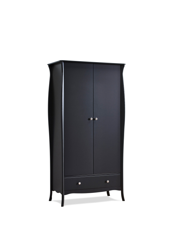 kleiderschrank baroque 104 schwarz braun sb m bel discount. Black Bedroom Furniture Sets. Home Design Ideas
