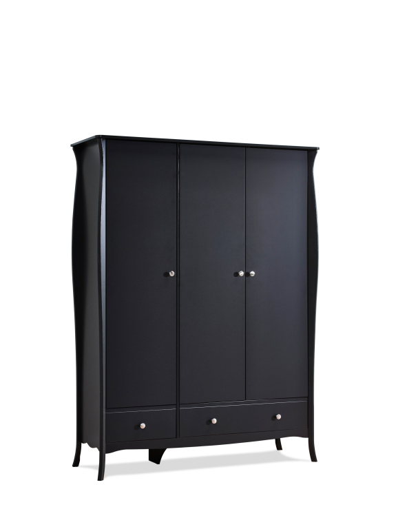 kleiderschrank baroque 107 schwarz braun sb m bel discount. Black Bedroom Furniture Sets. Home Design Ideas
