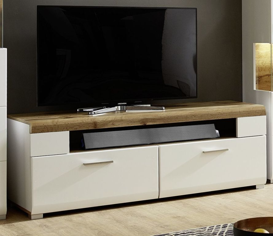 tv unterteil fun plus wei matt hirnholz eiche altholz sb m bel discount. Black Bedroom Furniture Sets. Home Design Ideas