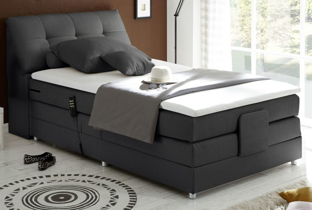boxspringbett concord 2 120x200cm anthrazit sb m bel discount. Black Bedroom Furniture Sets. Home Design Ideas