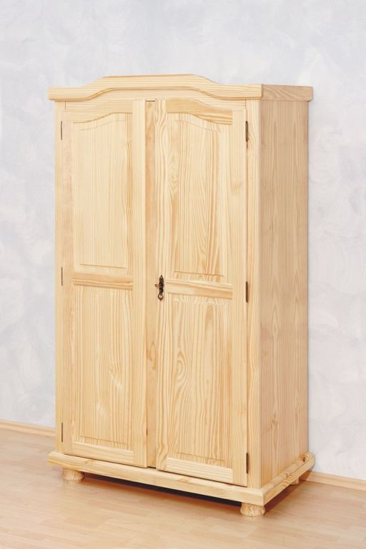 Armoire v tements genf pin massif sb meubles discount for Armoire en pin massif