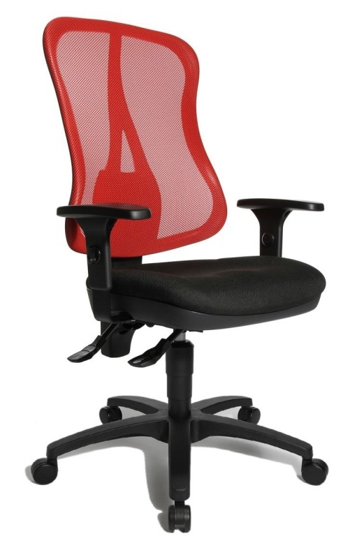 chaise de bureau pivotante linea 25 ton noir rouge sb meubles discount. Black Bedroom Furniture Sets. Home Design Ideas