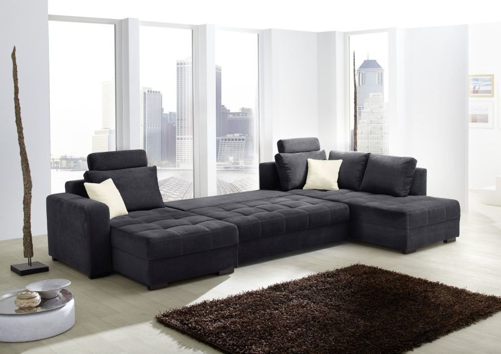 salon panoramique antego noir sb meubles discount. Black Bedroom Furniture Sets. Home Design Ideas