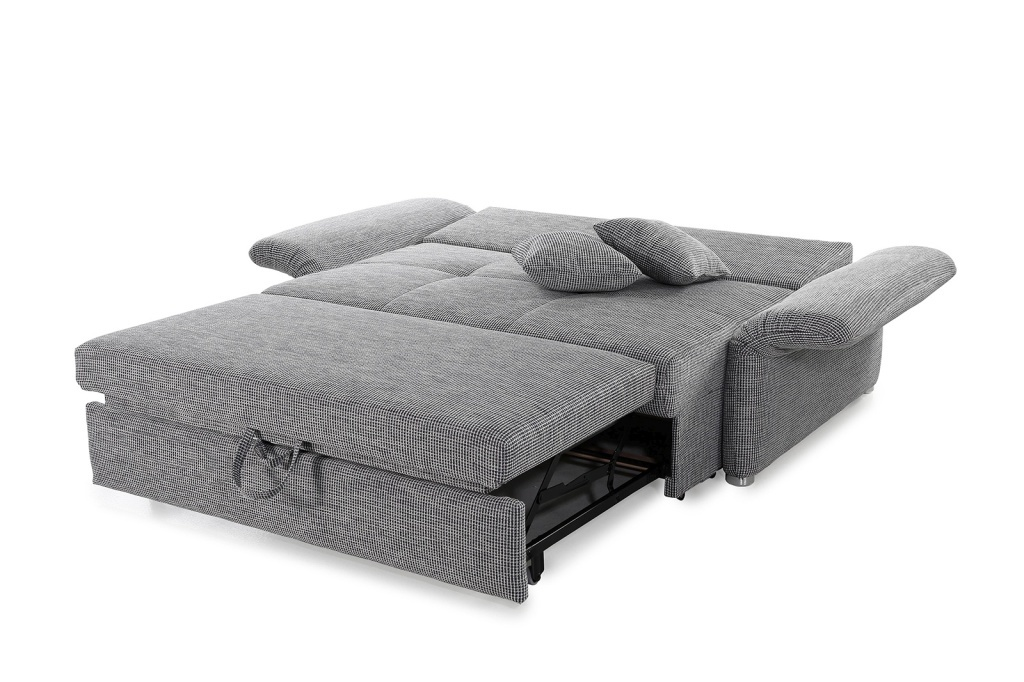 Canap convertible luca 140 chin gris sb meubles discount for Canape largeur 140