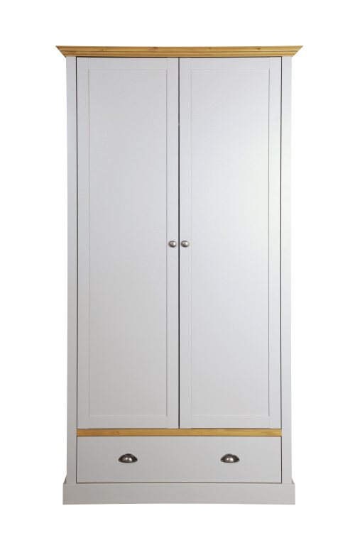 armoire v tements sandringham 104 pin massif gris jazz sb meubles discount. Black Bedroom Furniture Sets. Home Design Ideas