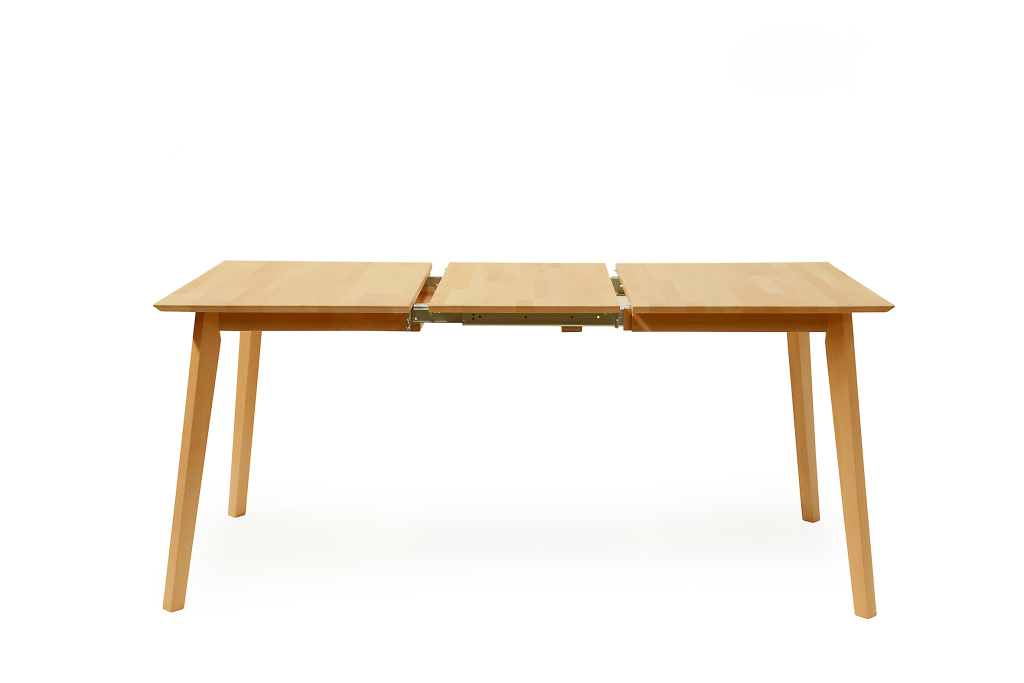 Table extensible 120 x 80 cm vinko h tre laqu ton naturel for Table extensible 80 cm de large