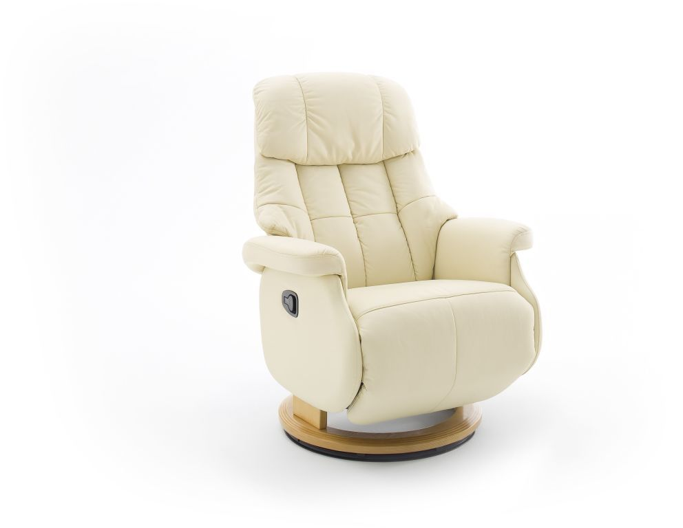 Fauteuil relax calgary comfort cr me teinte naturelle - Fauteuil relax discount ...
