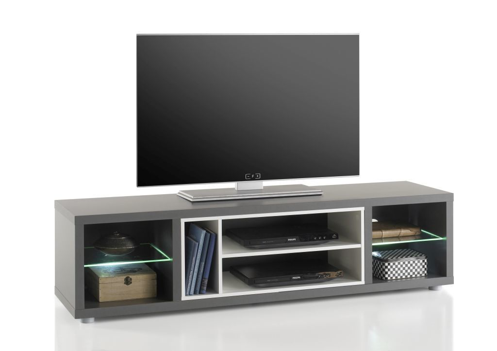 meuble tv shades 3 gris blanc sb meubles discount. Black Bedroom Furniture Sets. Home Design Ideas
