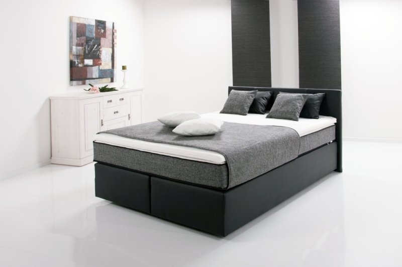 boxspringbett peach 140x200cm schwarz sb m bel discount. Black Bedroom Furniture Sets. Home Design Ideas