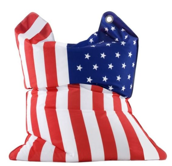 Pouf FASHION BULL STARS & STRIPES