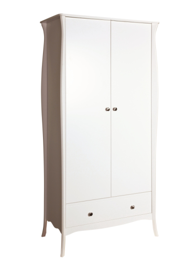 armoire v tements baroque 104 blanc sb meubles discount. Black Bedroom Furniture Sets. Home Design Ideas