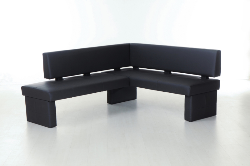 banc d 39 angle 224 cm domino noir sb meubles discount. Black Bedroom Furniture Sets. Home Design Ideas