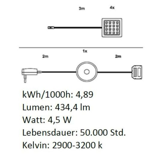 LED-Unterbauspot im 3-er Set CREEK/BELLA/PRIME 1100-763-00