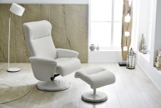 Fauteuil relax avec repose-pied RICARDA